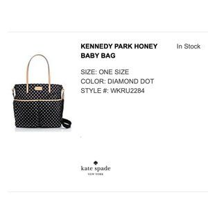 Kate Spade, NEW with tags, Kennedy Park Baby Bag